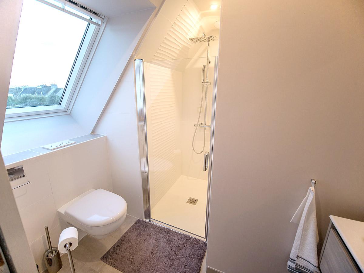Toutes le chambres possède une salle d'eau privative.