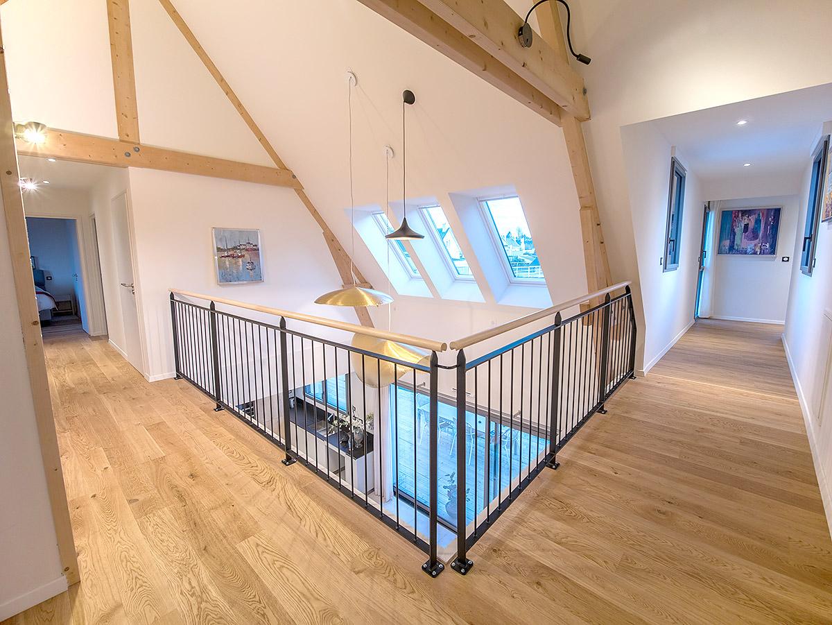 L'étage de la maison est accessible PMR.